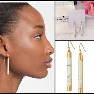 Kate Spade Building Blocks Linear Earrings.